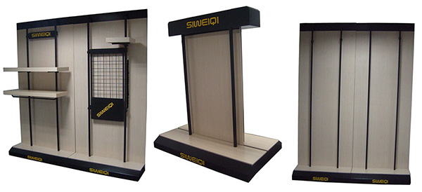 Fashion retail display fixtures wall unit
