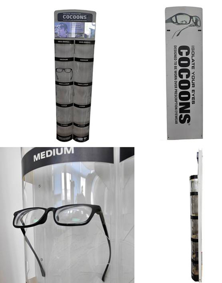 custom made glasses display rack