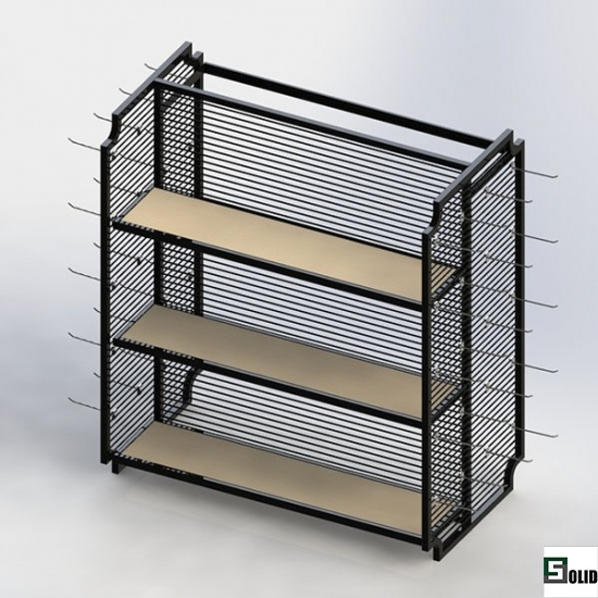 grid retail display rack