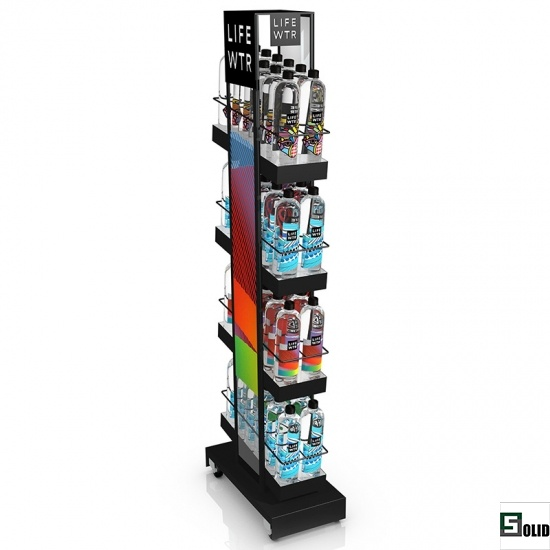 bottle display rack stand